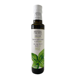 Extra Virgin Olive Oil With Basil 250 ml Miterra Earth