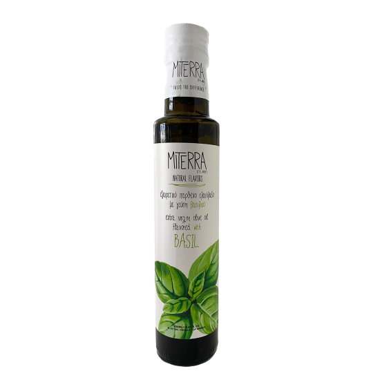 Extra Virgin Olive Oil With Basil 250 ml Miterra Earth PRODUCTS