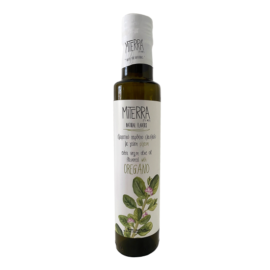 Extra Virgin Olive Oil With Oregano 250 ml Miterra Earth PRODUCTS